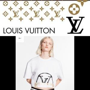 Louis Vuitton world stamped cropped sweater